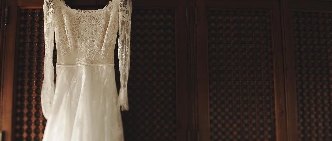 Vestido de la novia de encaje