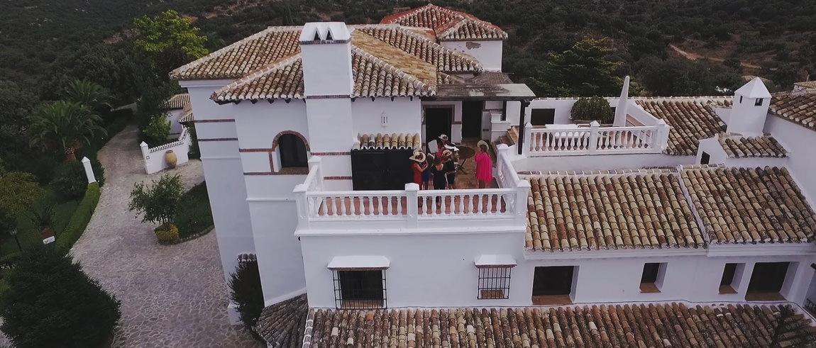 Celebracion de la boda en una terraza