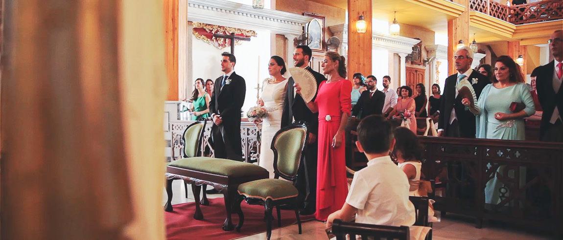 Ceremonia de boda en Iglesia Santa Maria del Mar de Málaga
