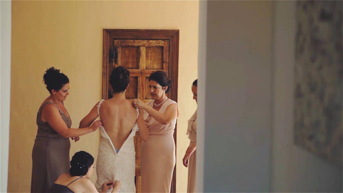 Vestido de novia en bodas en Marbella