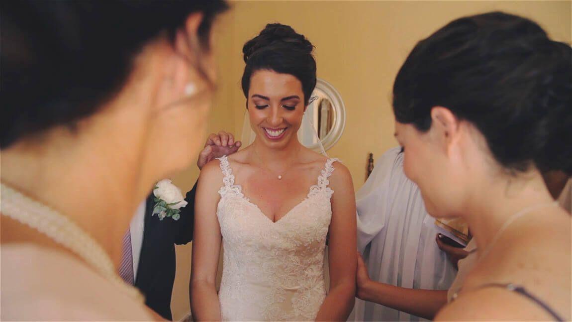 Rizando antes de la boda civil en finca San Jose de Mijas