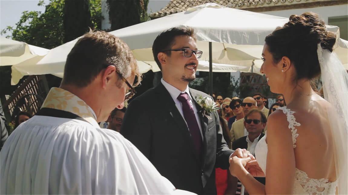 Anillos boda civil en Marbella. Ceremonia civil en Hacienda San Jose de Mijas