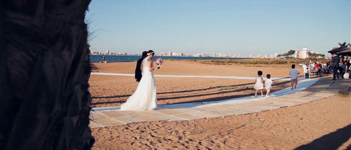 Bodas en la playa de Murcia