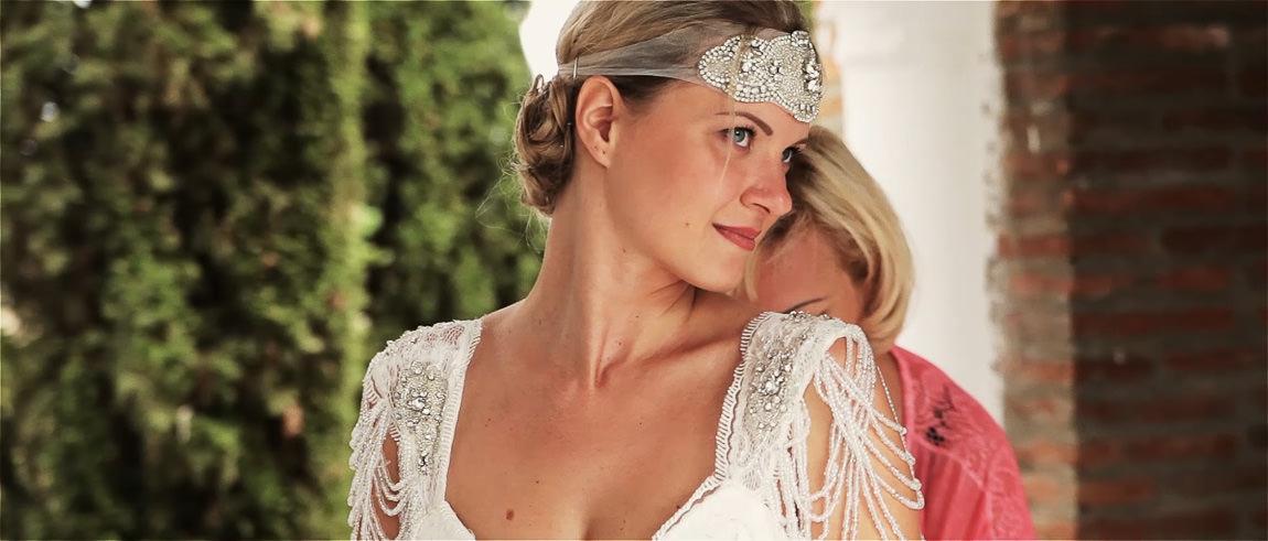 vestido novia boho hippie