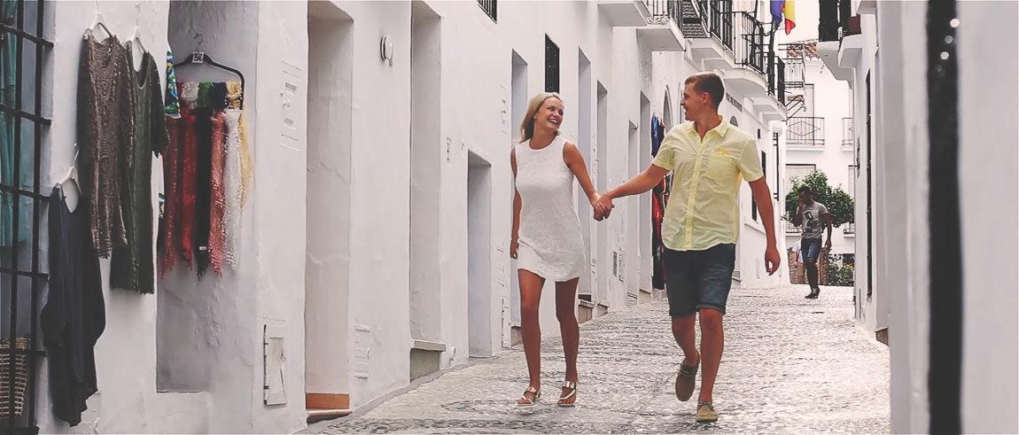 pre boda en Frigiliana Málaga